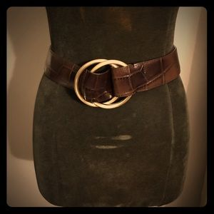 Brown leather belt- Ann Taylor